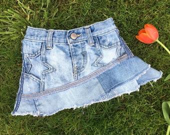 18-24m Baby Girl Custom Denim Ruffle Skirt