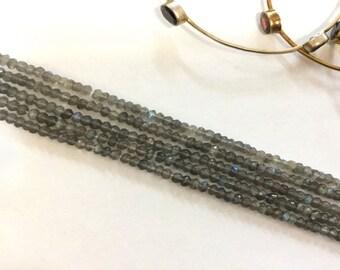 Labradorite Rondelles Faceted Beads