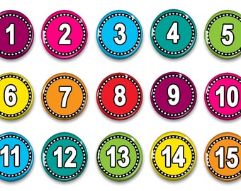 Number Magnets for Counting - Preschool Learning - Montessori - Number Practice - Educational - Teacher Gift - Student Numbers - Homeschool