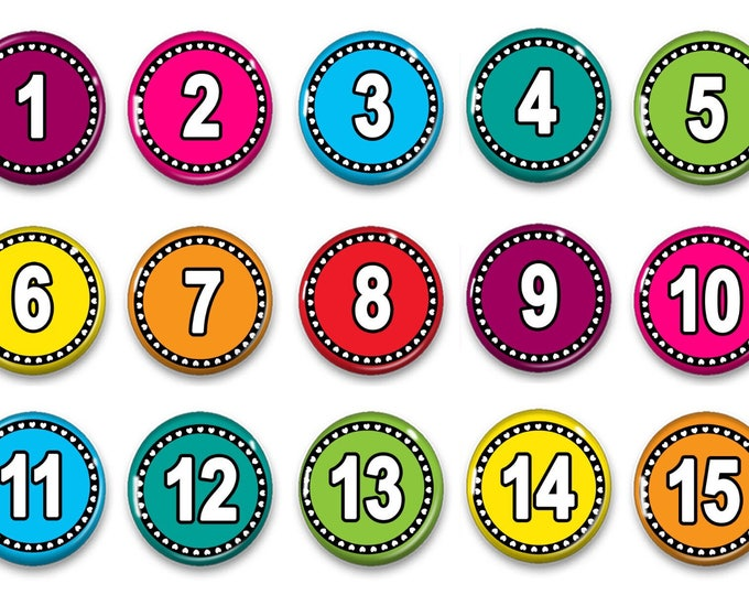 Number Magnets for Counting - Preschool Learning - Montessori - Number Practice - Educational - Teacher Gift - Montessori