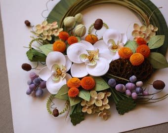 Green Orchid Wreath
