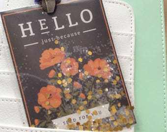 Seed Packet Style Shaker Tag-'Hello Just Because'