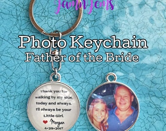 Father of the Bride Gift from Bride - Father of the Bride Gifts - Father of the Bride Keychain - Father of the Bride Gift Ideas