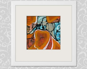 Painting abstract 20/20 cm-7,87/7,87 inch painting, art