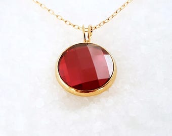 Red Crystal Gold Necklace, Red Gold Necklace, Red Necklace,Crystal Red Necklace,Crystal Gold Necklace,Crystal Necklace,Crystal Necklace Gold