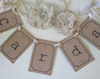 Cards Bunting - Bunting Banner - Wedding Cards Bunting - Photo Prop - Wedding Cards Sign