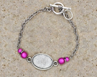 13 X 18 mm oval cabochon bracelet