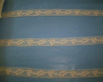 Antique lace french origin 1910 pure cotton  vintage supplies unique design