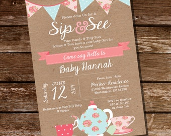 sip and see invitation printable sip and see template meet