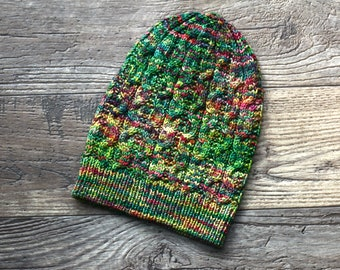 Knitting pattern, knitting tutorial, Knit hat pattern, Salem hat winter PDF