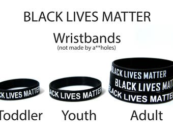 2-Pack+ Black Lives Matter Wristband Adult, Youth, & Infant Sizes