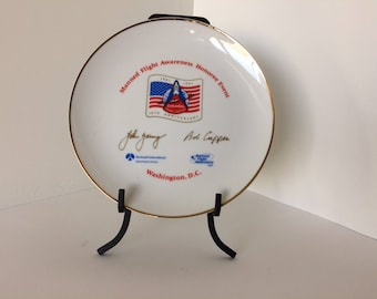 Commemorative Plate for Manned Flight Awareness - First Orbital Space Flight of the Space Shuttle -Honoring John Young & Bob Crippen