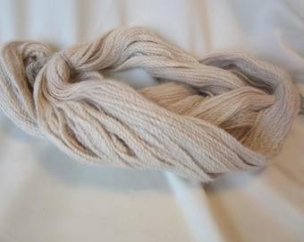 2 Ply Handspun Alpaca Yarn - All Natural Beige SUPERFINE Grade 2 Alpaca - Sport Weight, 183 Yds - 14-18 WPI