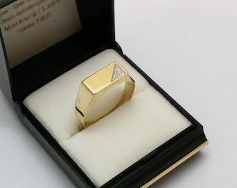 Ring seal ring gold GR178 333 plate Moissant rar