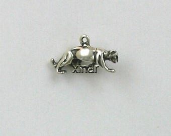 Sterling Silver 3D Mountain Lion Charm