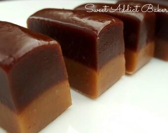 Peanut Butter Chocolate Caramels