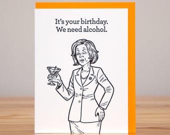 Vodka birthday card etsy birthday card lucille bluth arrested development letterpress bookmarktalkfo Image collections