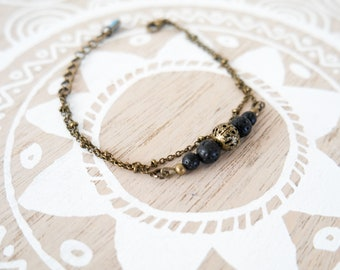 """""""Edha"""" bracelet in lava stones"""
