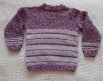 For girl hand knit sweater 2-3 years