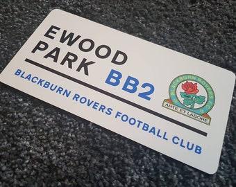 Football Crest Ground Street Sign Office Man Cave