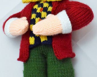 Mad Hatter Knit Toy, Alice in Wonderland, knitted toy