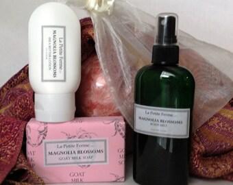 Spa Set - Goat milk soap, shea butter lotion, body spray - SAVE