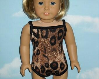 18 inch Doll Swim Suit  Handmade Animal Print
