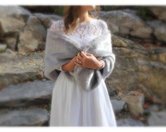 Fur Stole, Bridesmaids Fur Shawls, Gray Fur Shawl, Bridal Cape, Wedding Fur Shawls, Fur Wrap, Fur Bridal Wrap, Winter Wedding, Wedding Shawl