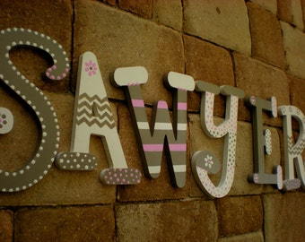 Girl Name Letters - Boy Name Letters - Whimsical Font - Nursery Letters - Kids Name Letters