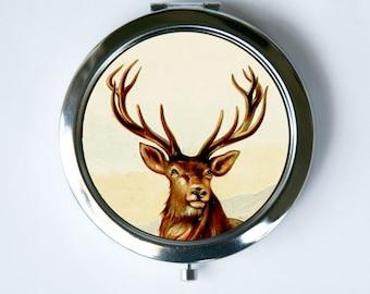Deer antlers Compact Mirror vintage hipster