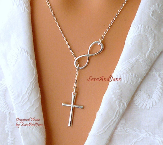 infinity il szbn cross listing necklace sterling silver