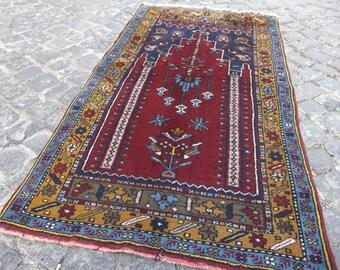 rugs oushak , small rug, runner small, moroccan small rug, small beni ourain rug, 388