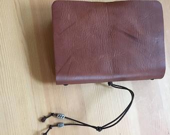 A6 Brown Midori Style Veg Tan Leather Journal, Notebook, Sketchbook