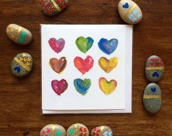 Love Card - Hearts - Love Card - Illustration