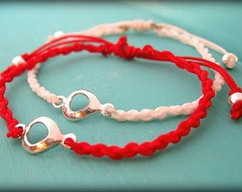 mothers day jewelry gift mother doughter minimalist bracelet red bracelet friendship jewelry sweet 16 tiny bracelet you are my love