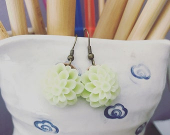spring bloom carved lucite earrings