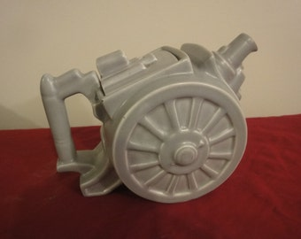 "clews & co ""belisha"" artillery/cannon teapot"