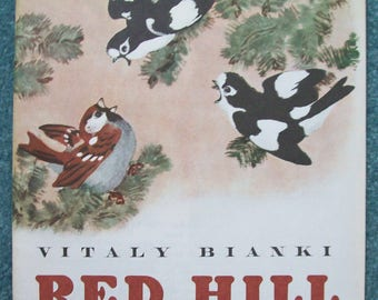 "Russian Children's Book in English Purchased In Russia in 1985 ""Red Hill"""