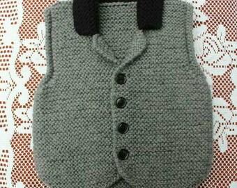 Knitted Gray Boys Waistcoat