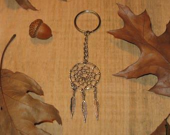 Key dream catcher, dreamcatcher / feathers / keychains / #006