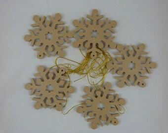 MDF blank Christmas snowflake