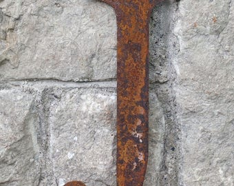 Flat Metal Rusty Letter J / Metal / Letter / Garden / Industrial / Vintage / Rustic / Floral / Gift / Wedding / Home / 25cm