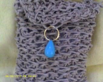 Crocheted Hemp Wristlet.......phone case