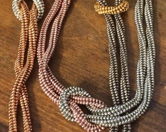 Tutorial for Knotted Herringbone Rope Necklace