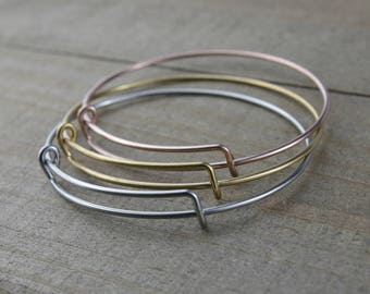 1 PIECE Stainless Steel Expandable Bangle Bracelet, Silver bangles, Gold bangles, Rose gold bangles, Stainless steel G45537