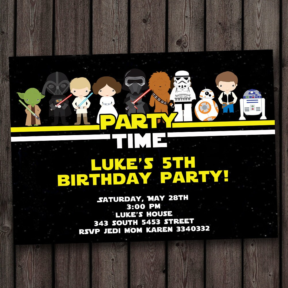 Fast customized star wars invitation the force awakens zoom alramifo Images