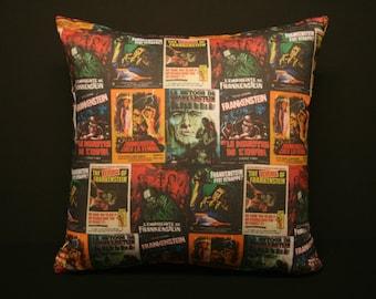 Hammer Frankenstein Poster Art Pillow