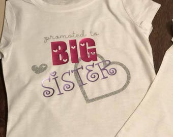 BIG Sister shirt with hearts