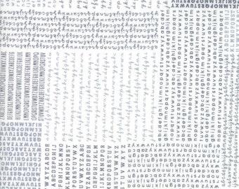 Harmony White Rain Alphabet Yardage  SKU# 5690-21