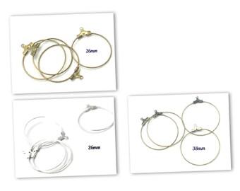 4 26 metal hoop rings / 38mm